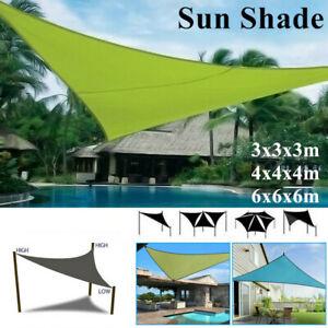 3/4/6m Waterproof Triangular Sun Shade Sail Outdoor Garden Awning Canopy UV