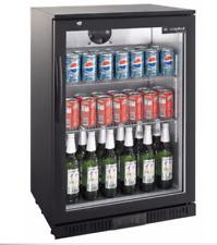 Kühlschrank Getränke Flaschenkühlschrank Glastür 138 Liter Umluft schwarz