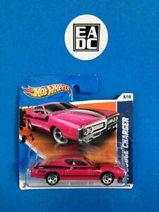 2011 HOT WHEELS '71 DODGE CHARGER MET PINK MUSCLE MANIA 11 8/10 SHORT EADC