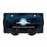 United Pacific 50115 All Metal Satin Black Finish Scorpion License Plate Frame