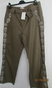 NEW SEQUIN DETAIL OLIVE CHINOS 12 16 18 20 22 30 AVAILABLE