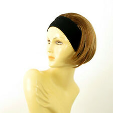 headband wig short brown copper wick light blond ref: AMANDA 6bt27b