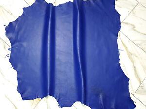 LEDER TIP 34290-D, Lederreste, 1 Lederhaut, antik-royalblau nappa
