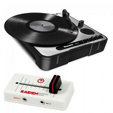 Numark PT01 USB with VVT-MK1 Fader in off White & Red
