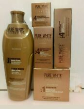 PURE WHITE GOLD GLOWING LOTION 400ml, Fade serum,Tube Cream, BSC & SOAP 5pcs Set