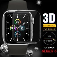 4D Curved 9H Tempered Glass Screen Protector For Apple Watch Series 5/4/3/2/1 ES