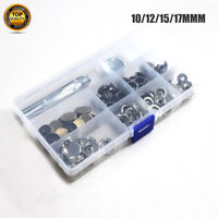 30 Set Heavy Duty Snap Fasteners 10/12/15/17mm Press Studs Kit Buttons W Tool AU