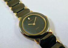 Lassale by Seiko Black & Gold Tone Metal 4N20-0400 Sample Watch NON-WORKING