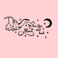 We Love You To The Moon And Back Nursery Stickers wall Quote  Stickers