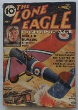 THE LONE EAGLE FIGHTING ACE pulp magazine July 1936