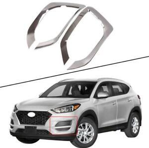 For Hyundai 2019-2020 21 Tucson ABS chrome Front fog light frame cover kit 2PCS