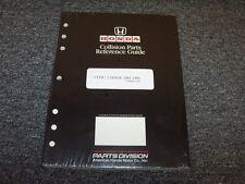 1993 1994 1995 Honda Civic Coupe Collision Parts Catalog Manual DX EX 1.5L 1.6L