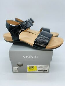 Vionic Women's Metallic Marsala Sandal - Black US 8M / EUR 39