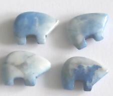 4 Light Blue Lapis Gemstone Zuni Bears - Native American Jewellery