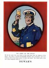 1926 Dewar's Whiskey Original Color AD Spirit of Ocean Sailor Navy