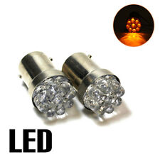 2x Amber 9-LED [BA15S,382,1156,P21w] 12v Indicator Light Bulbs XE3
