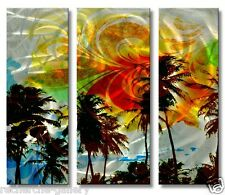 Metal Art Modern Home Décor Tree Landscape Wall Sculpture Picturesque Palms