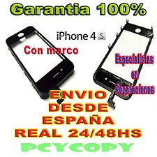 PANTALLA TACTIL PARA IPHONE 4S MARCO CRISTAL TOUCH SCREEN 4 NEGRO NUEVA A+