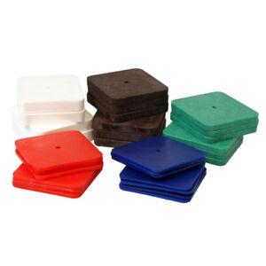 50 Kunststoff Unterlegplatten 70x70 5-fach sortiert Distanzklotz Niveauausgleich