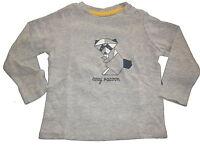 NEU Lupilu tolles Langarm Shirt Gr. 74 / 80 grau mit Waschbär Motiv !!