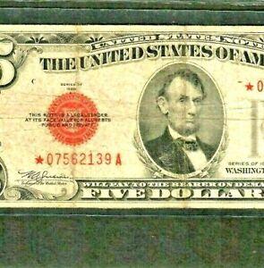"$5 ""STAR"" (1928-E) ""STAR""(RARE) $5 STAR! STAR! STAR ! (1928-E) STAR>STAR>RARE!!!"