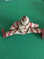 "8"" Shoenhut Circus Doll Clown RARE Antique Early 1900's"