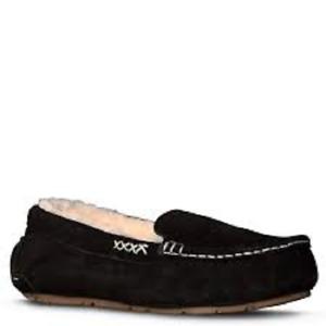 Old Friend Footwear Women's Bella Nubuck Slippers 441310 Black