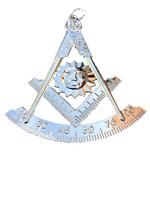 Past Master Silver Tone Jewel For Masonic Collar Regalia Freemason Pendent Mason