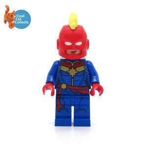 Genuine Lego Marvel Superheroes Captain Marvel Minifigure (sh641) with Helmet