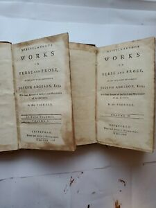 Miscellaneous Works in Verse and Prose of the Late Right Honourable Joseph Addis
