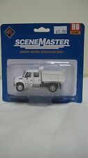 Walthers/Boley HO  International 4300 Crew Cab Dump Truck MOW White #949-11634