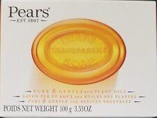 Pears Pure & Gentle 3.5oz Transparent Bar Soap Original Plant Oils