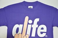 Men's Alife, 100% Cotton T-shirt. made in USA. size S. Retail $30 - Purple