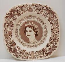 Queen Elizabeth II Hand Engraved Coronation Plate John Maddock Sons June 2 1953