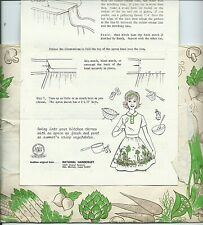 """70's vintage FAD of the MONTH """"GARDEN MEDLEY APRON"""" cotton FABRIC PANEL sew EASY"""