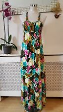 New Look Hawaiian Vibrant Jersey Stretchy Summer Maxi Ladies Summer Dress Size 8