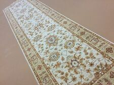 "2'.7"" X 9'.9"" Beige Gold Oushak Persian Oriental Rug Runner Hand Knotted Wool"