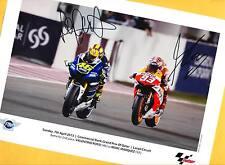 Marc MARQUEZ - Valentino ROSSI - TOP AK Bild (1) 21x15  Print Copie + WM AK Foto