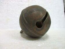 Ancien gros grelot striée - Bronze - Animaux - Chiens chevaux Postier