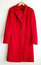 M&S RED MILITARY STYLE COAT SIZE 10