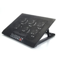 """New 2 USB adajustable Cooling Cooler Pad with 6 Fans LED for 12""""-17"""" Laptop PC"""