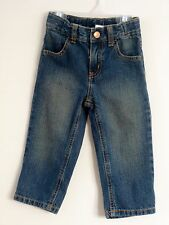 GYMBOREE Boys Size 18-24 Months Front Zipper Adjustable Waist Blue Denim Jeans