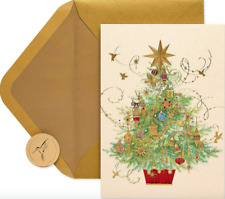 """""""Warmest Wishes of the Season & Happy New Year"""" PAPYRUS Christmas Tree CARD $7"""