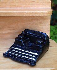 Miniature Dollhouse FAIRY GARDEN Accessories Small Black Metal Retro Typewriter