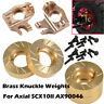 Wheel Brass Knuckle Weights for Axial SCX10II AX90046 AX90047 1/10 RC Crawler