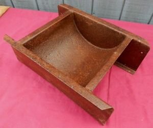 Uncommon / Unusual Curved Steel Feeding Trough Planter for Garden Plants or ?