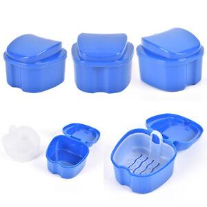 Boîte à prothèses Conteneur Boîte de rangement pour dents Panier de rinçage p F1