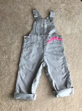 Osh Kosh Size 24 Months Toddler Girl Gray Glitter Overalls