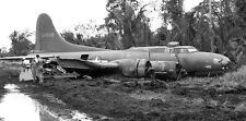 WWII Photo B-17 Flying Fortress Bomber Crash Landing  World War 2   WW2 / 5135