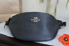 NWT COACH F48738 Pebble Leather Belt Bag Fanny Pack Black $298